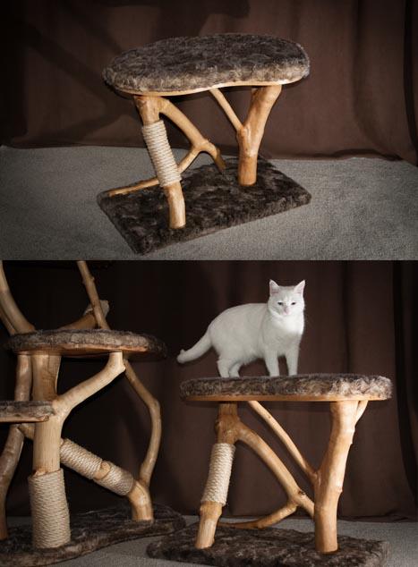 Luxury Wooden Rustic Cat Scratcher